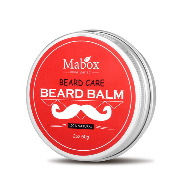 Red Box Moisturizing Nursing Beard Cream 1pc Natural Beard Balm for Gentlemen Beard Used Professional Tool Oil Care Wax Effect 1
