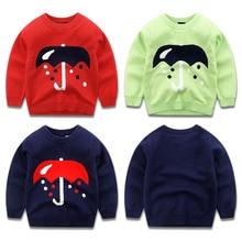 The new boy's 2016 children round collar knitting fleece sweater line unlined upper garment Baby sets joker children's wear coat