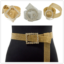 Women Shiny Belt Waist Chain Crystal Diamond Waistband Full Rhinestone Luxury Metal Jewelry
