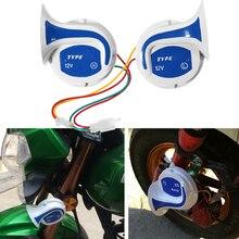 1 пара ABS Улитка Стиль Воздушный Рог 12 В громкий 18 звуков 150 дБ Электрический Водонепроницаемый Автомобильный Динамик сигнализация двигатель мотоцикл Фургон Грузовик сирена
