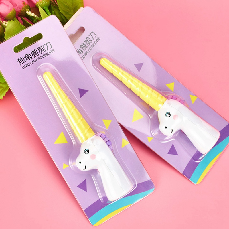 Children Scissors Craft-Tools Paper-Cut Folding Portable Kawaii Scrapbook Unicorn Safety