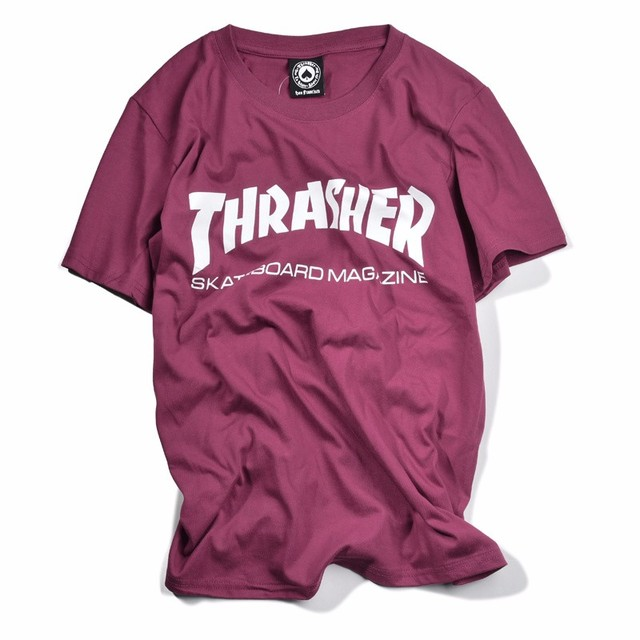 New thrasher T Shirt Men Skateboards tee Short Sleeve skate Tshirts Tops Hip Hop T shirt homme Man Magazine trasher T shirts