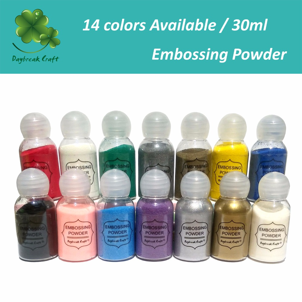 (pack Of 1oz) DIY Metallic Paint Emboss Powder Shiny Colour Embossing Pigment Stamping Scrapbooking Craft