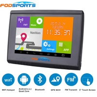 2018 Updated 5 Inch LCD Android 4.4.2 WIFI 512M RAM 8GB Flash GPS Navigation Bluetooth Waterpoof Navigator For Motorcycle/Car