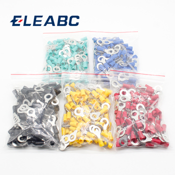 50PCS/100PCS RV2-6 Ring insulated terminal Cable Wire Connector Electrical Crimp Terminal 50pcs crimping type non insulated pipe bare terminal connector for 18awg wire page 3