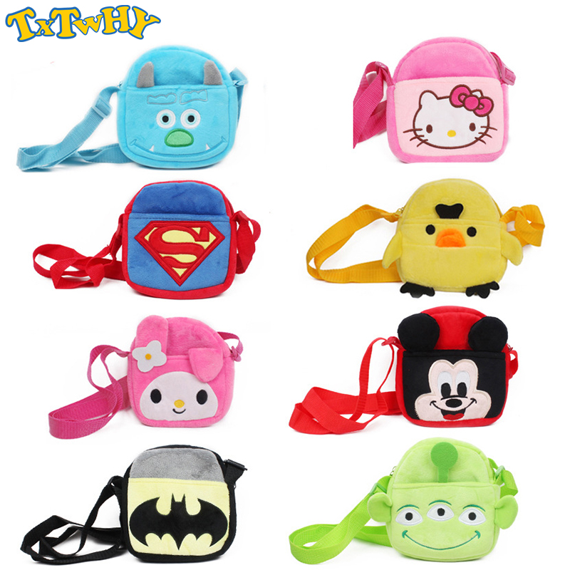 2019 New Hello Kitty&Mouse Plush Backpack Baby Toys Cute Bateman Mini Wallet Coin Shoulder Messenger Bag Gift For Kids