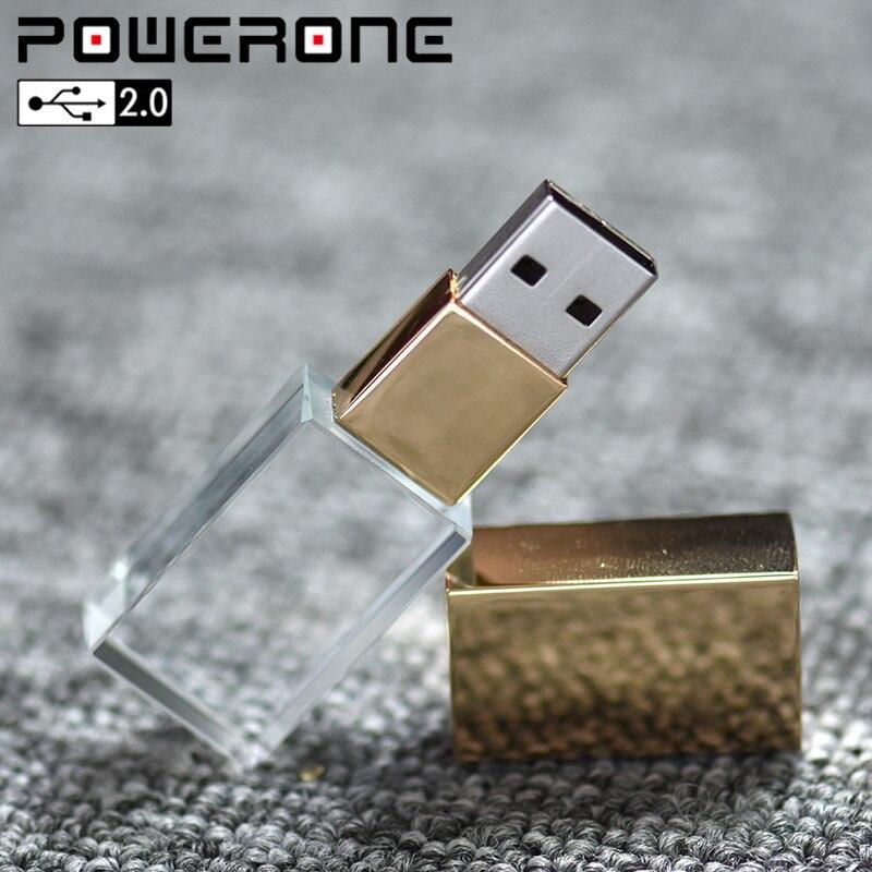 Well-Educated Powerone Crystal Usb Sticks 3d Print Custom Logo 4gb 16ggb Usb Flash Pendrive 32gb 64gb Transparent Glass(over 10 Pcs Free Logo