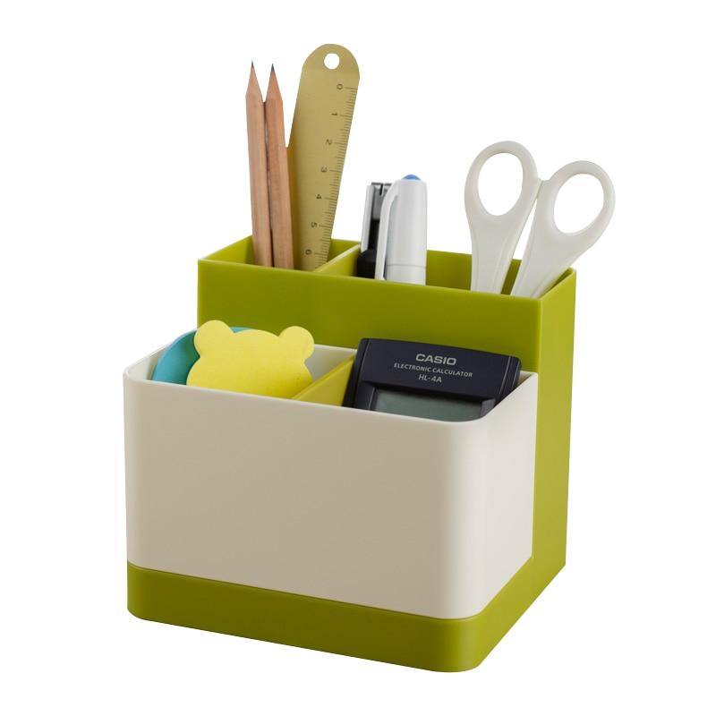 Student multifunctional creative pen holder Office personal stylish stationery storage box Korea style cute pencil case