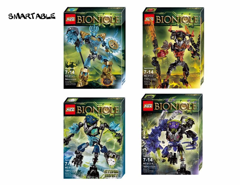 BIONICLE series 4 pcs / set Ekimu Umarak Storm Quroha action figures - Mainan pembinaan - Foto 2
