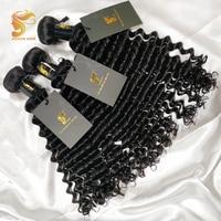 AOSUN HAIR Deep Wave Bundles Peruvian Human Hair Bundles Natural Color Remy hair Extensions Curly Hair 3PCS Free Shipping
