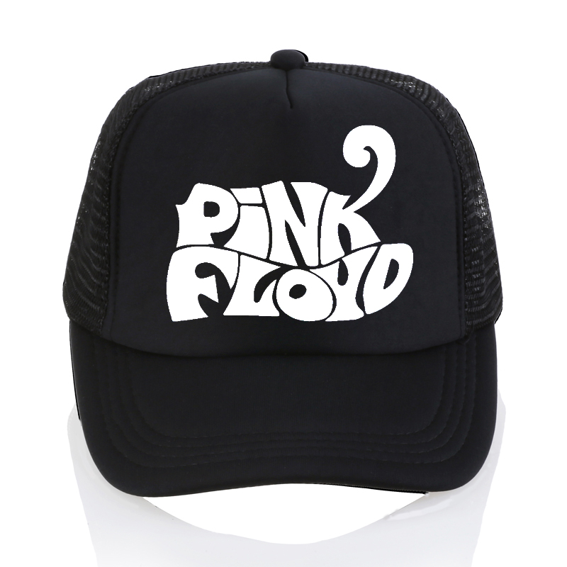 Men women summer casual mesh cap Pink Floyd band Baseball caps fashion rock letter adjustable unisex trucker caps hat cntang summer embroidery letter w baseball cap fashion cotton snapback for men women trucker hat unisex casual caps gorras
