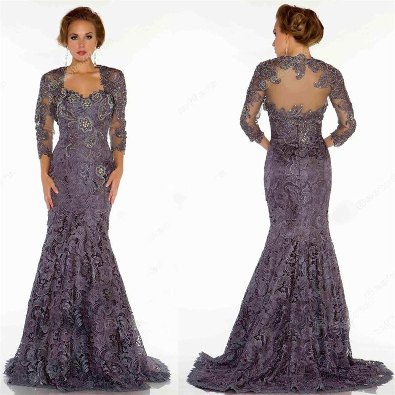 Gray-Purple-Mermaid-Mother-of-the-Bride-Dresses-With-Free-Jacket-Beading-Formal-Dresses-Women-Party
