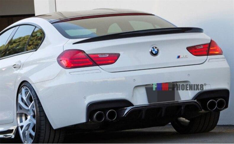 Becquet en Fiber de carbone pour BMW série 6 F06 Gran Coupe M6 640i 650i 2011-2020 | Poulets à oreilles arrière de haute qualité
