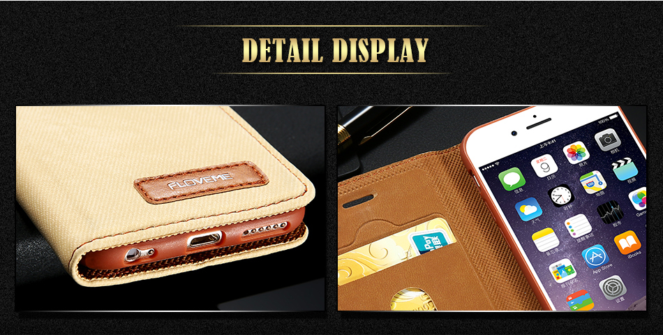 DOEES For iPhone 6 6S Plus Flip Phone Case Luxury Leather Card Slot Stand Holder Case For iPhone 7 7 Plus Denim Wallet Case Capa (5)