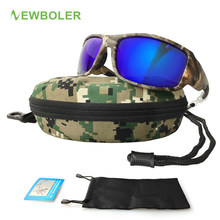 NEWBOLER-gafas polarizadas De camuflaje para hombre y mujer, lentes De Sol para pescar, ciclismo, senderismo, conducir, deportes al aire libre, De camuflaje