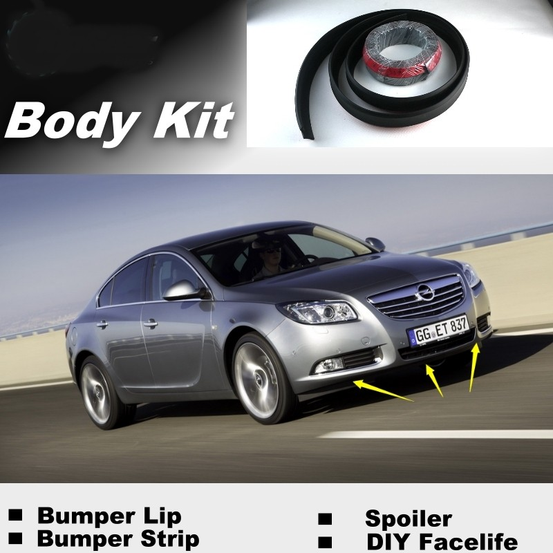 Bumper Lip Lips For Opel Insignia 2008~2015 Top Gear Shop Spoiler For Car Tuning TOPGEAR Recommend Body Kit + Strip