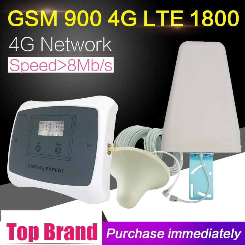 2G 4G Handy-Signalverstärker 65 dB GSM 900 LTE 1800 Band 3 - Handy-Zubehör und Ersatzteile - Foto 1