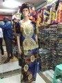 Frete grátis O novo Africano senhora vestido da moda 2016 Novo design de moda em África bordados Requintados e Ms dois-peça M2354-1