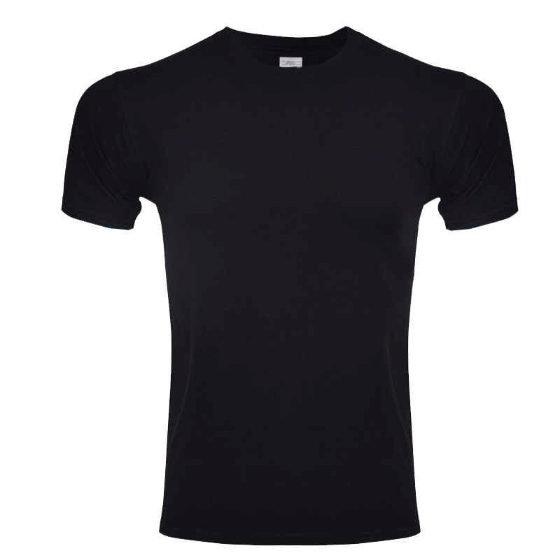 Pria T Shirt Musim Panas Busana Merek Pakaian Pria Warna Solid Cepat Kering Pria Lengan Pendek Atasan Kasual Tee Ukuran L ~ XL 2XL
