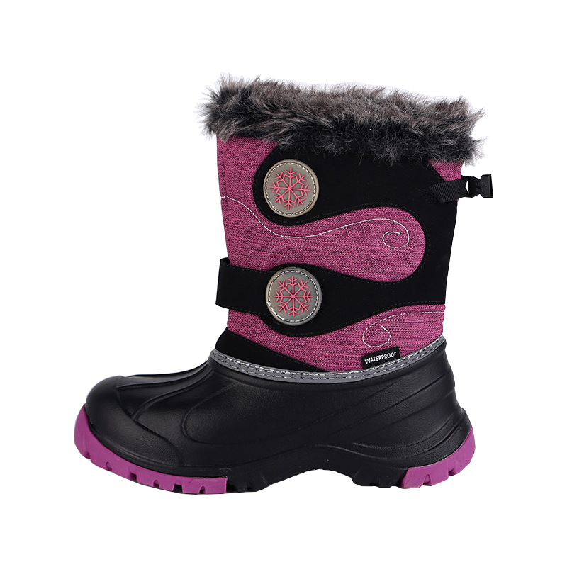 2018 NEW Kids Shoes Winter Snow Boots for Girls Fashion Snow Shoes Beatiful Baby Girls Waterproof Snow Boots Size 29#-37# стоимость