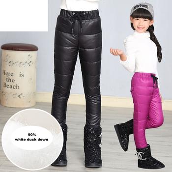 Gorąca sprzedaż dziewczyny spodnie zimowe moda 2017 dzieci zagęścić ciepłe dół wysokiej jakości nastoletnie miękkie wygodne czyste legginsy tanie i dobre opinie GB-Kcool POLIESTER COTTON 25-36m 4-6y 7-12y 12 + y CN (pochodzenie) Zima skinny PATTERN NONE Pełna długość Dobrze pasuje do rozmiaru wybierz swój normalny rozmiar