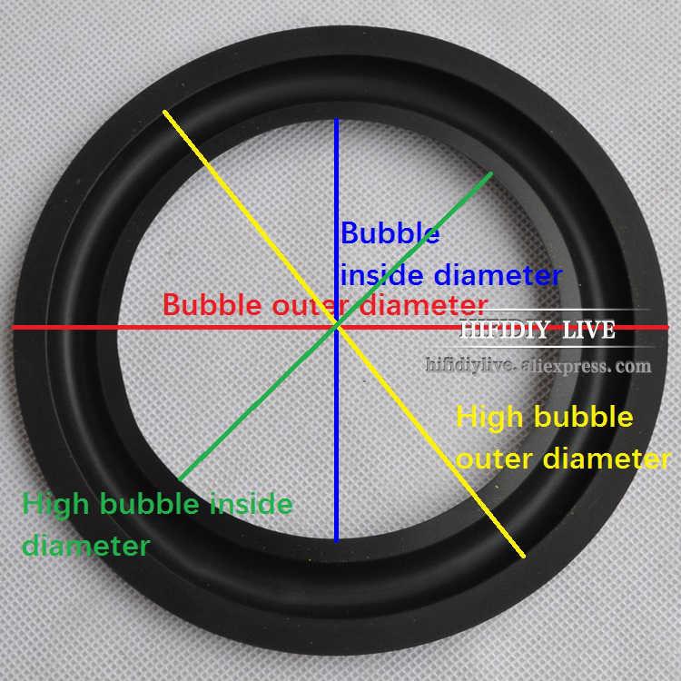 HI-FI DIY LIVE 4 5 6,5 7 8 10 12 дюймов (100 ~ 300 мм) НЧ-динамик Динамик ремонт Запчасти аксессуары резиновый край складной кольцо сабвуфер