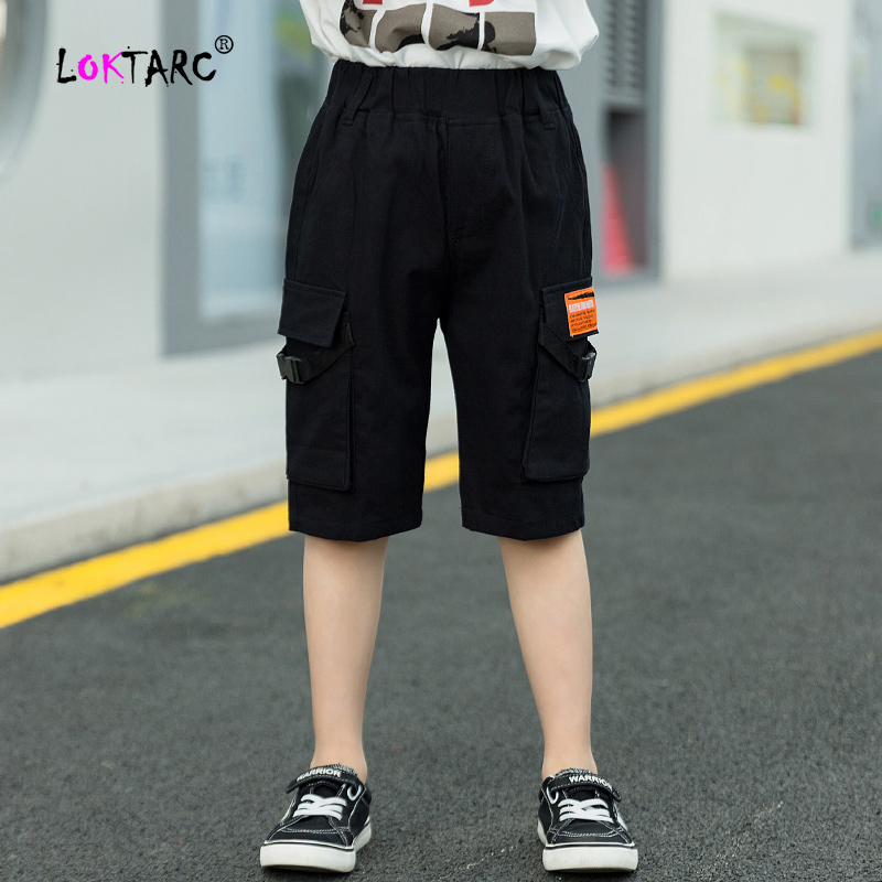 YoungSoul Kids Boys Cargo Trousers Elasticated Waist Slim Fit Jogger Pants