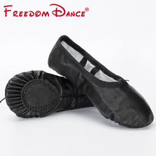 2019 Children's Genuine Leather Ballet Dance Shoes Split Soles Dancing Slippers Girls Yoga Shoes Gym Fitness Shoes Kids 6Colors