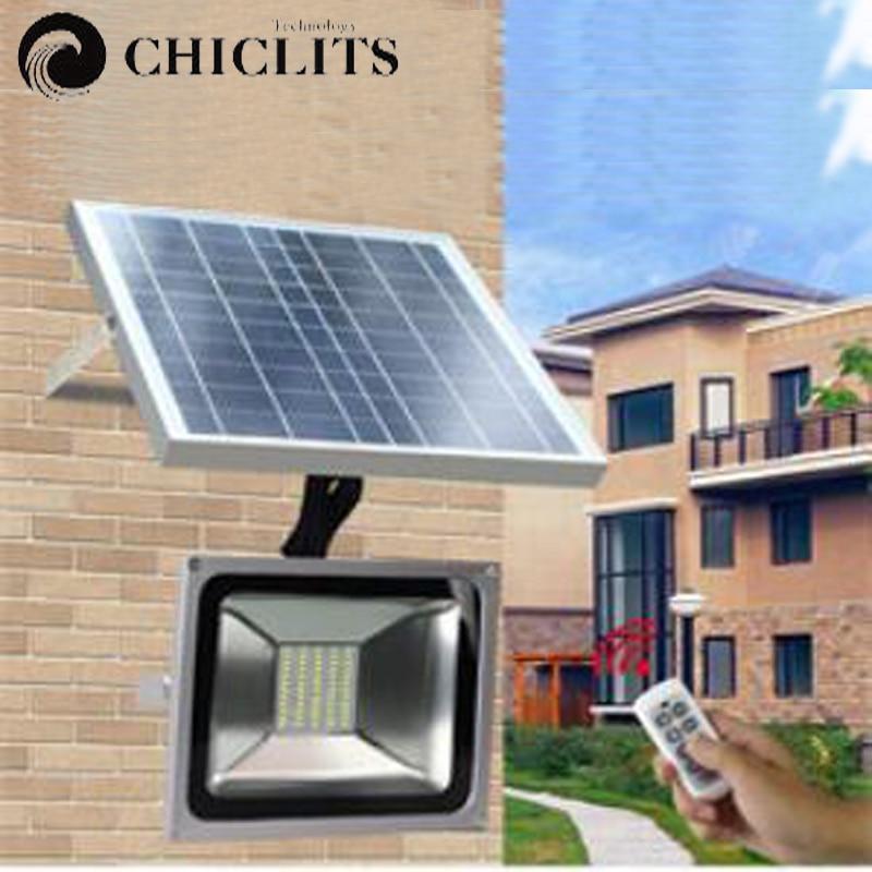 Chiclits 60/120 LEDs Outdoor Waterproof Dimmable Solar Flood <font><b>Light</b></font> Street <font><b>Light</b></font> for Garden/Billboard/Patio/Swimming Pool/Garage