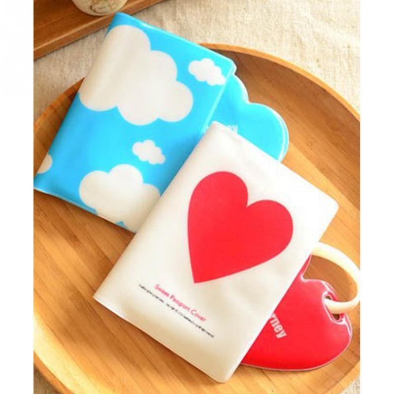 Resultado de imagen de Wholesale Passport Cover Passport Holder + Luggage Tag + Silicone Strap Love and Clouds Two Kinds of Styles