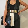 Venta de liquidación de Moda recorte de la vendimia Femenina cinturones de hebilla cummerbund elástico correa ancha de las mujeres decoración de la correa de las mujeres