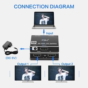 Image 2 - 1 ב 2 מתוך HDMI ספליטר 2.0 מתאם 1x2 HDCP 2.2 4K 60Hz HDR HDMI מתג switcher וידאו כבלים עבור HDTV DVD PS4 XBOX HDMI כבל