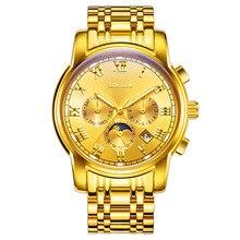 Marca Original SOLLEN Reloj Mecánico Automático de Los Hombres de Negocios reloj Masculino Impermeable Reloj de Pulsera Deportivo Relojes Relojes Relogiol