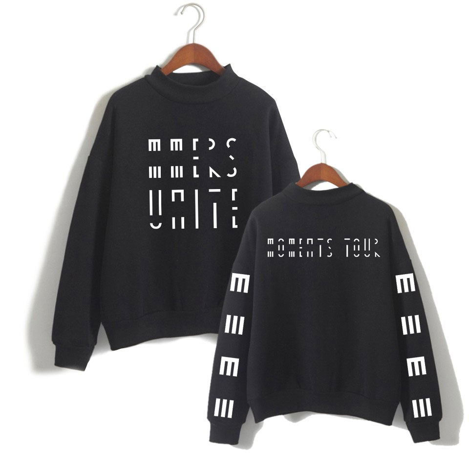 Marcus & Martinus Moment Tour Sweatshirts Women Turtleneck Tops Geometric Hip Hop Harajuku Clothes XXS To 3XL