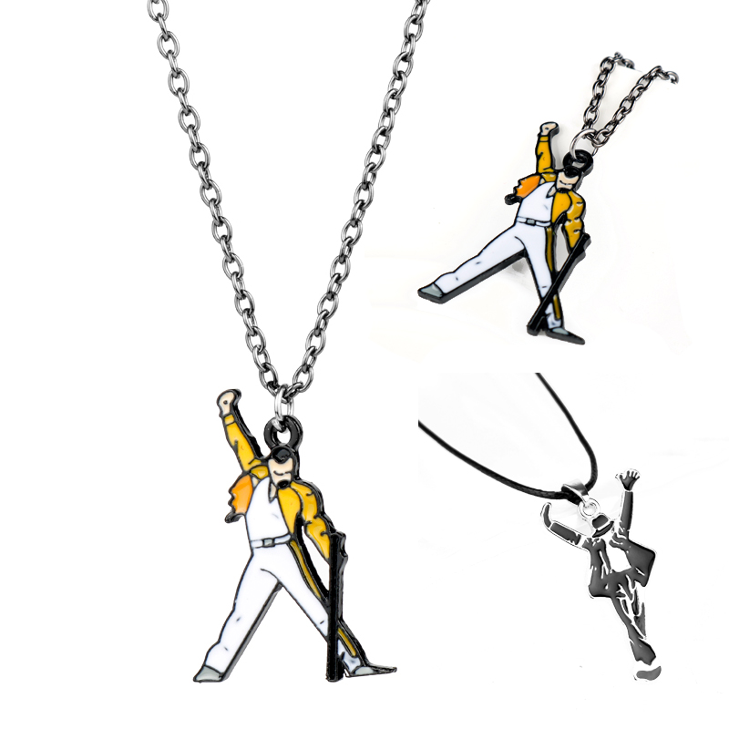Pop Star Singer Michael Jackson Queen Band Necklace Beads Chain Pendant Necklaces Fashion Jewelry Charm Choker Gift