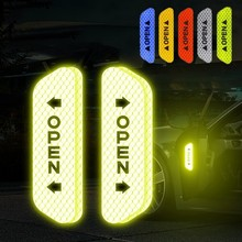 4pcs Car Door open Sticker Reflective Tape Universal Safety Mark Warning  Decal Tape High Reflective