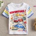 2014 New NEAT Kids 100% cotton ute car pattern summer baby BOYS clothing short sleeve T-shirt children kintted 5pcs/lot S8105#