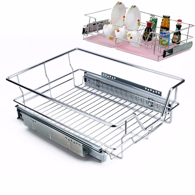 Kitchen Wire Storage Cabinets Wholesale Prices Heavy Duty Sliding Cabinet Organizer Pull Out Chrome Basket Drawer