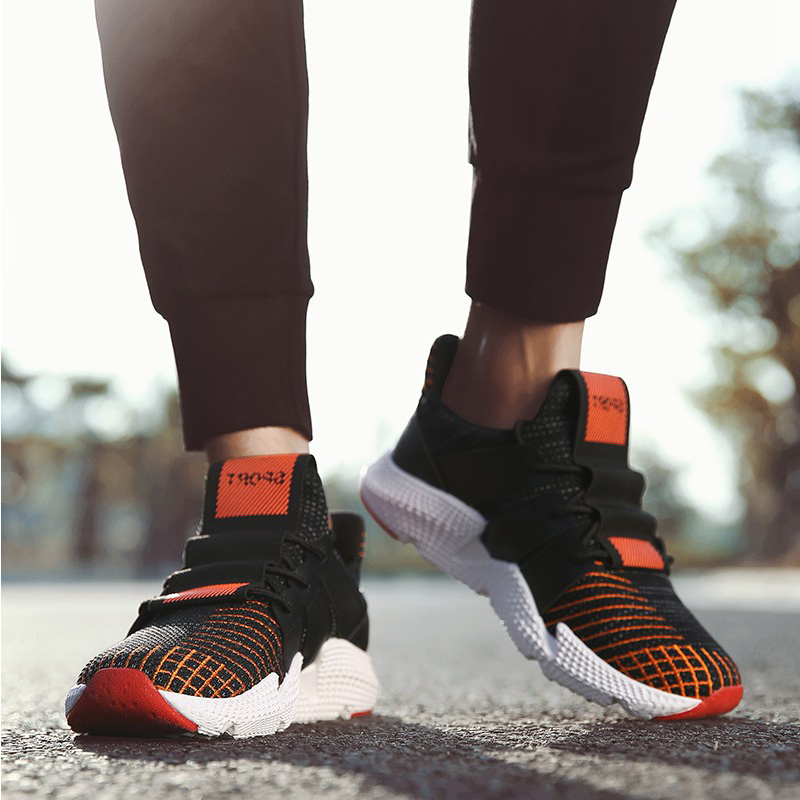 NANCY TINO Breathable Running Shoes For Man Lace-up Soft Sole Sports Shoes Male Outdoor Lightweight Walking Athletic Sneakers