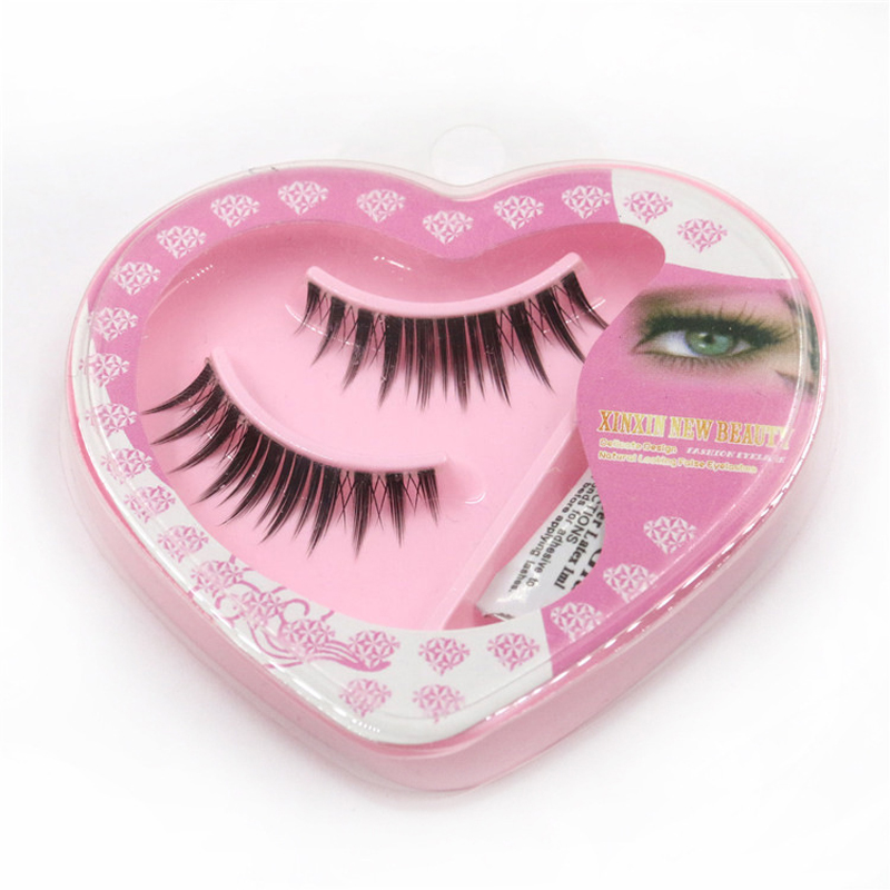 1 Pairs Heart-shaped Packaging Transparent Stems Fake Lashes Eyelashes+glue Assembly False Eyelashes Stage Makeup Lashes Beauty & Health False Eyelashes