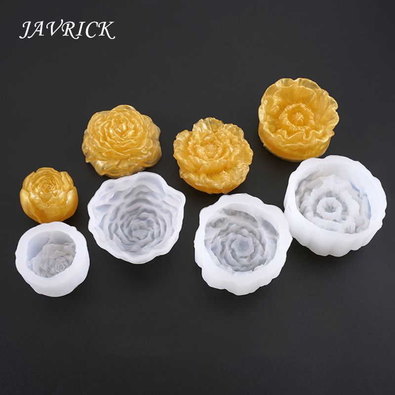 Crystal Epoxy Mould DIY Jewelry Mirror Three Dimensional Flowers Bright Silicone Mold Making Cake Fondant Handmade Crafts Gift