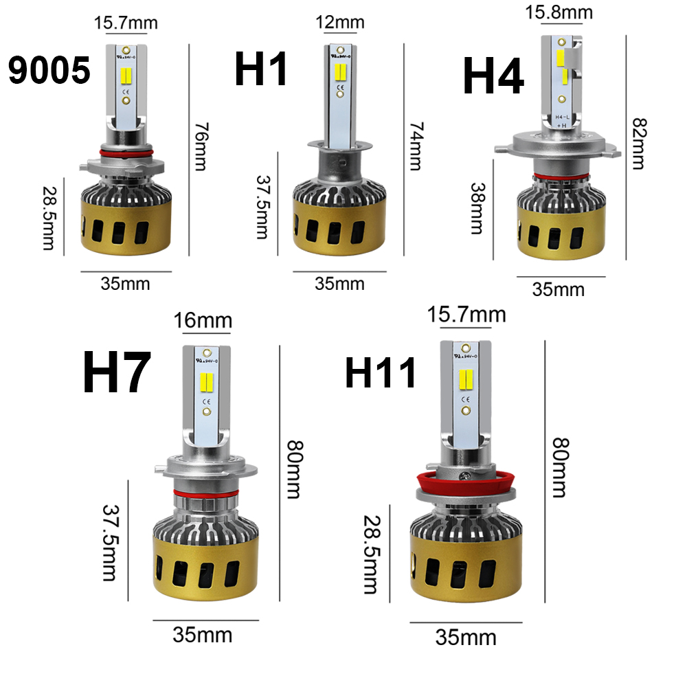 Image 5 - LSlight LED Headlight H7 H4 H11 H1 9006 HB2 HB4 H8 H9 LED Auto Bulb 3000K 4300K 6000K 9600LM 72W 12V 24V Car Light  Ampoule-in Car Headlight Bulbs(LED) from Automobiles & Motorcycles