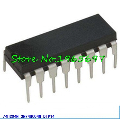 10pcs/lot SN74HC04N 74HC04N 74HC04 DIP-14 In Stock