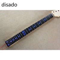 A neck Inlay blue LED dots Rosewood Fretboard maple Electric Guitar Neck accessories Parts guitarra musical instruments