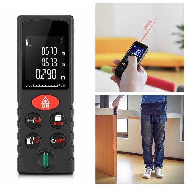10PCS Easy Convenient 40m Handheld Rangefinder Laser Distance Meter Digital Rangefinder Laser Tape Measure Tester