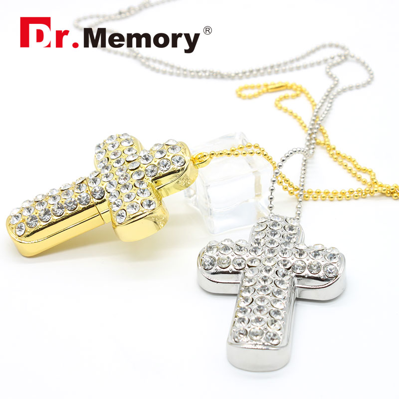 Jewelry Pen Drive Metal Cross USB Flash Drive 32gb USB 2.0 16gb Flash Drive 8gb Pendrive 4gb Usb Key Micro Usb Pendrive