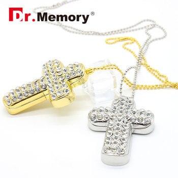 jewelry pen drive metal cross USB flash drive 32gb USB 2.0 16gb flash drive 8gb pendrive 4gb usb key micro usb pendrive