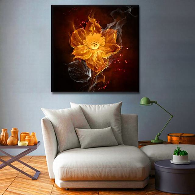 مجردة النفط pating الزخرفية رسمت التدخين الألعاب النارية جدار الفن قماش المشارك الصورة الحديثة شرارة لوحة قماش بطباعة فنية