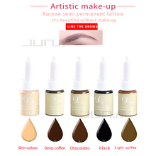 1Pcs 10Ml Permanent Makeup Eyebrow Pigment For Tattoo Eyebrow Microblding Inks Makeup Products Coffee Color