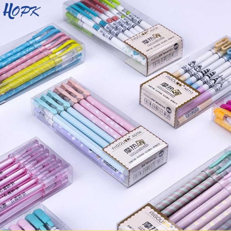 12Pcs/Lot Erasable Pens Washable Handle Blue Erasable Gel Pen Refill Rod School Writing Stationery Cute Pen Tool Gift Suit